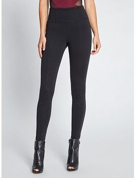 high-waisted-ponte-knit-leggings by guess