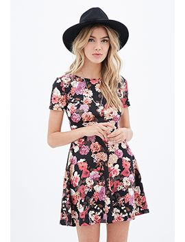 cutout-floral-skater-dress by forever-21