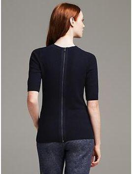 navy-back-zip-pullover by banana-repbulic