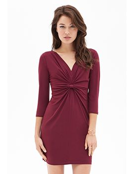 knotted-jersey-sheath-dress by forever-21