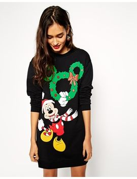 asos-sweater-dress-with-glitter-mickey-mouse-wreath by asos-collection
