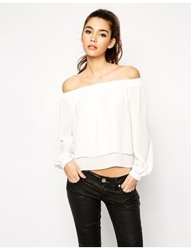 asos-woven-off-the-shoulder-top by asos-collection