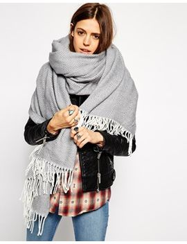 asos-oversized-herringbone-scarf by asos-collection