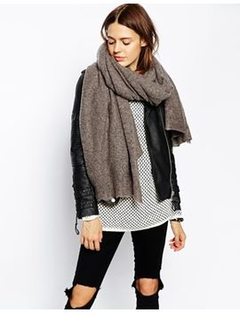 asos-oversized-knit-scarf by asos-collection