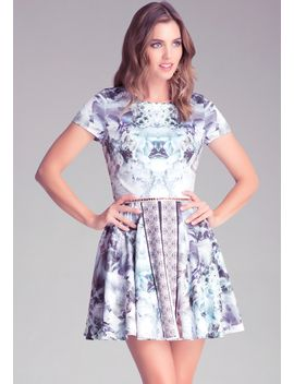 mix-print-circle-dress by bebe