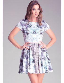 mix-print-circle-dress by bebe