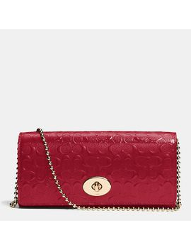 slimenvelope-on-chain-in-signature-embossed-patent-leather by coach