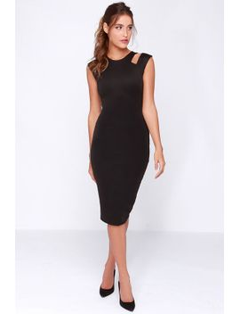 lulus-exclusive-more-and-amore-black-midi-dress by lulus