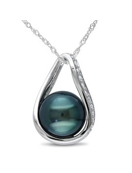miadora-14k-white-gold-tahitian-pearl-and-1_10ct-tdw-diamond-necklace by miadora