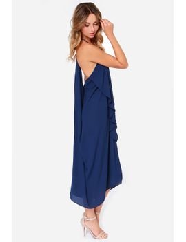 draped-in-finery-navy-blue-dress by lulus