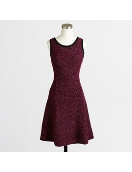 factory-petite-knit-tweed-sleeveless-dress by jcrew