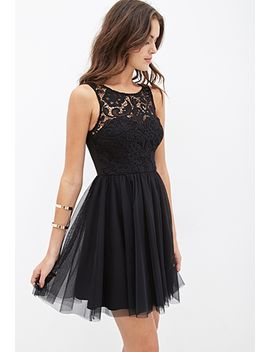 crochet-&-tulle-dress by forever-21