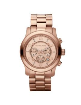 runway-oversized-rose-gold-tone-stainless-steel-watch by michael-kors