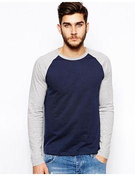 camiseta-con-manga-raglán-larga-en-contraste-de-asos by asos