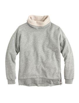 shearling-lined-sweatshirt by jcrew