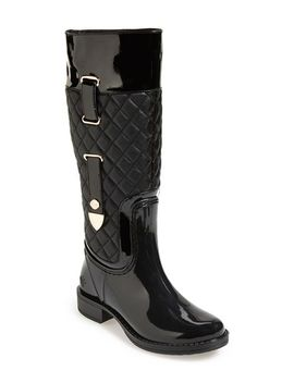quizz-quilted-tall-rain-boot by posh-wellies