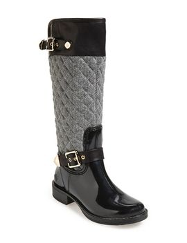 peacon-quilted-tall-rain-boot by posh-wellies