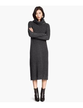 knitted-polo-neck-dress by h&m