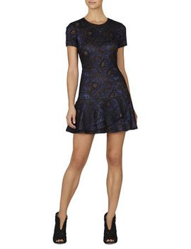 marissa-short-sleeve-flounce-dress by bcbgmaxazria