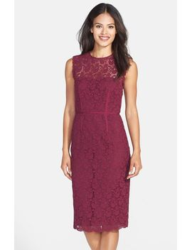 illusion-back-lace-sheath-dress by jill-jill-stuart