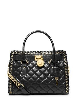 hamilton---hippie-grommet-quilted-leather-satchel by michael-michael-kors