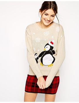 club-l-penguin-holidays-sweater by top