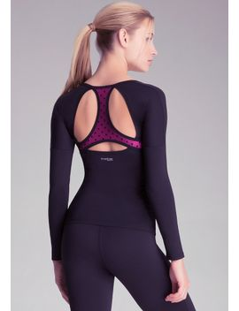 3_4-sleeve-workout-top by bebe