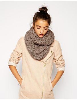 liquorish-chunky-knit-infinity-scarf by asos-brand