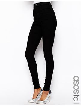 asos-tall-rivington-high-waist-denim-jeggings-in-clean-black by asos-tall