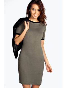 sally-ribbed-bodycon-dress by boohoo
