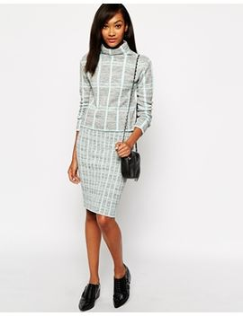 warehouse-check-skirt by warehouse