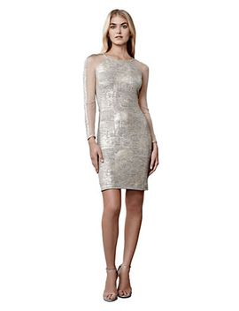 metallic-foil-sheath-dress by lord-and-taylor