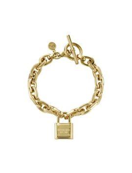 logo-padlock-gold-tone-bracelet by michael-kors