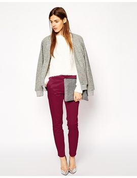 asos-ankle-grazer-cigarette-trousers-in-texture by asos-collection