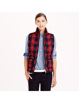 excursion-quilted-vest-in-buffalo-check by jcrew