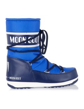 piqué-shell-and-faux-leather-snow-boots by moon-boot