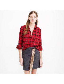 boyfriend-flannel-shirt-in-red-plaid by jcrew