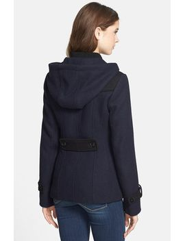 two-tone-toggle-coat-with-detachable-hood by guess