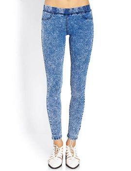 throwback-acid-wash-jeggings by forever-21