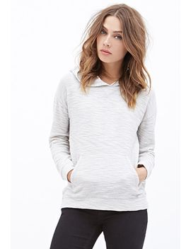 heathered-knit-hoodie by forever-21