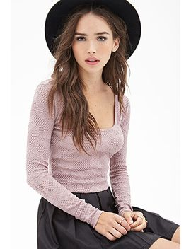 floral-fishnet-crop-top by forever-21