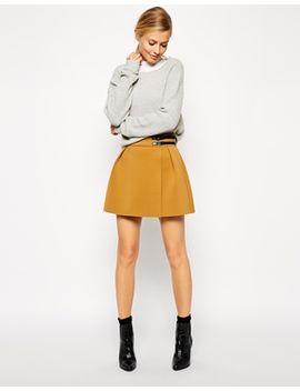 asos-premium-kilt-skirt-in-bonded-scuba by asos-collection