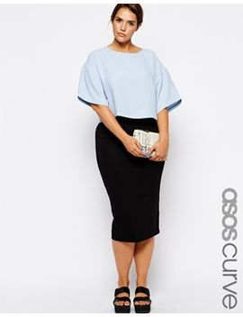 asos-curve-double-layer-pencil-skirt by asos-curve