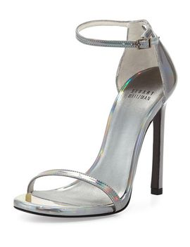 nudist-metallic-ankle-strap-sandal,-pewter by stuart-weitzman