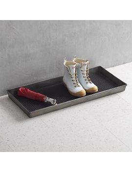 zinc-boot-tray-with-liner by crate&barrel