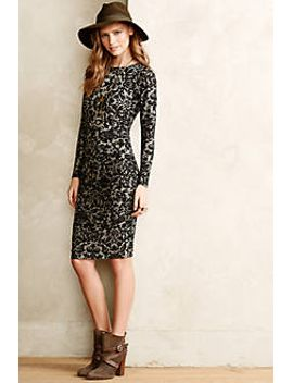 courtly-jacquard-sheath by anthropologie