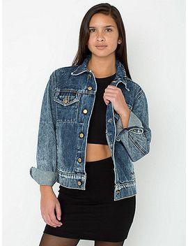 unisex-acid-wash-denim-jacket by american-apparel