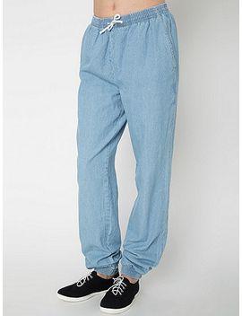 unisex-denim-billionaire-pant by american-apparel