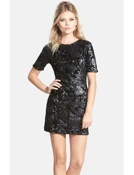 flocked-sequin-dress by topshop