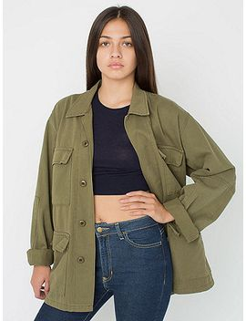 unisex-cotton-twill-military-jacket by american-apparel
